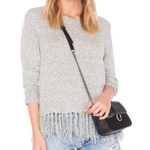 BB Dakota • Grey Fringe Pullover Sweater